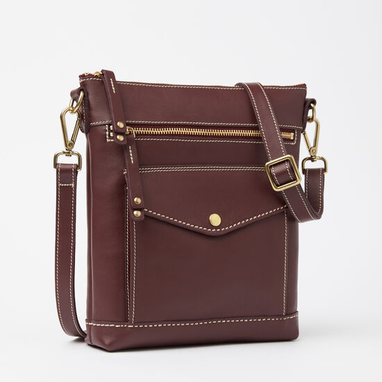 Roots-Women Bags-Post Bag Bolzano-Garnet-A