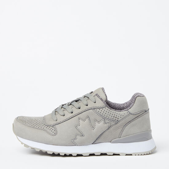 Roots-Shoes Women's-Womens Trans Canada Jogger Nubuck-Grey-A