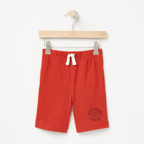 Roots-Kids Bottoms-Toddler Camp Pull On Shorts-Mountie Orange-A