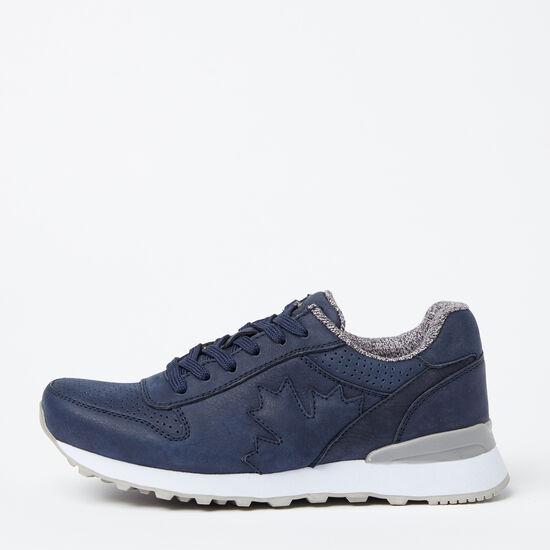 Roots-Shoes Women's Shoes-Womens Trans Canada Jogger Nubuck-Navy-A