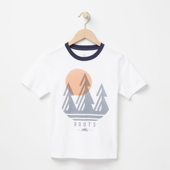 Roots-Kids New Arrivals-Boys Explore T-shirt-White-A