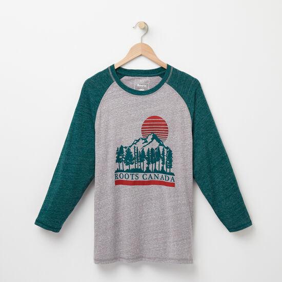 Roots-Men Features-Dorval Baseball T-shirt-Grey Mix-A