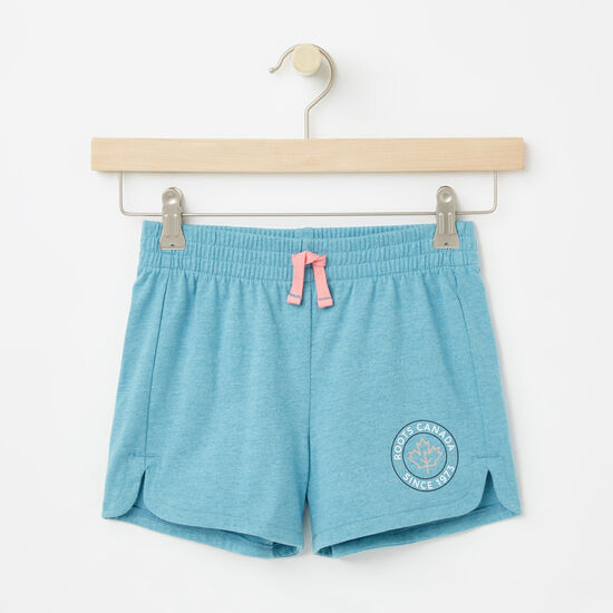 Roots-Kids Bottoms-Girls Lucy Shorts-Atlantic Deep-A