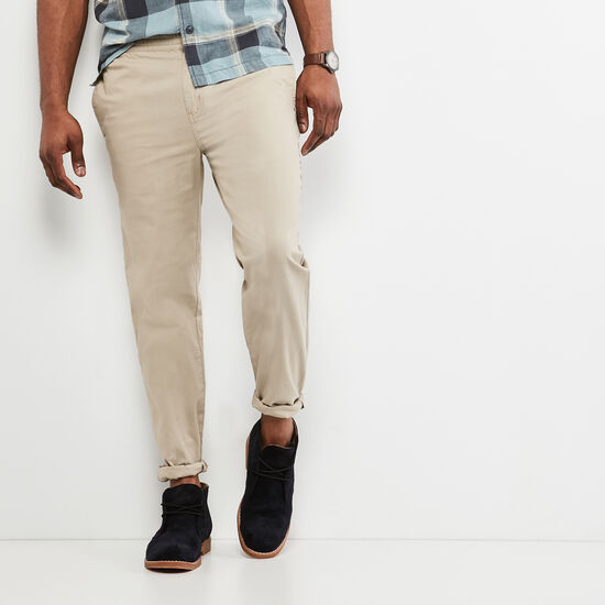 Roots-Men Bottoms-Dockside Hemp Pant-True Khaki-A