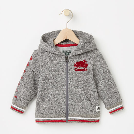 Roots-Kids Roots Salt & Pepper™-Baby Canada Full Zip Hoody-Salt & Pepper-A