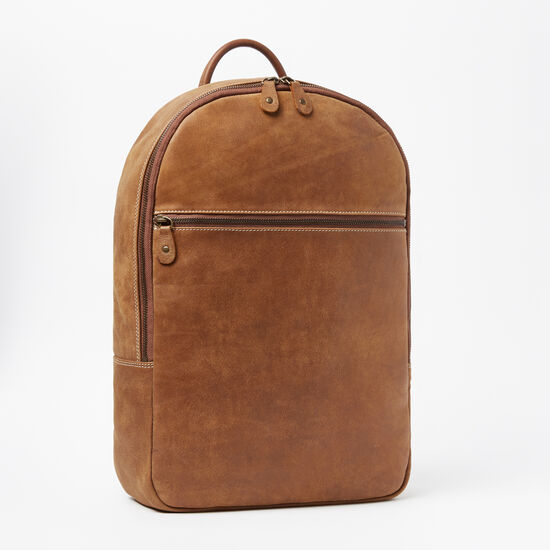 Roots-Leather Tribe Leather Collection-Go Pack Tribe 15in-Africa-A