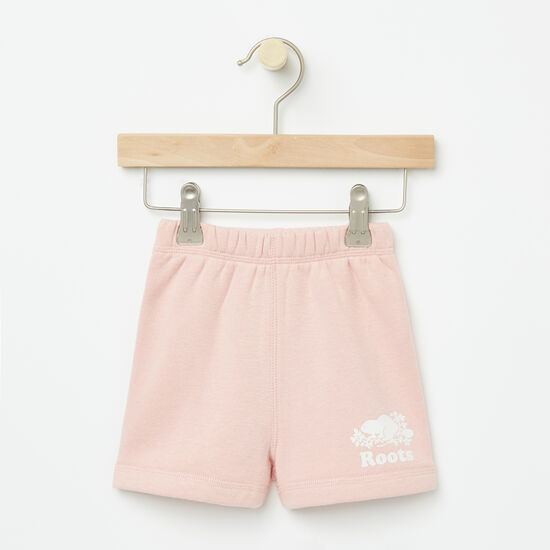 Roots-Kids Bottoms-Baby Original Athletic Shorts-Silver Pink-A