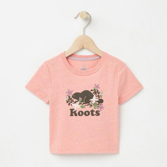 Roots-Enfants T-shirts-Bébés T-shirt Cooper Valleyfield-Mlng Fleur De Pêcher-A