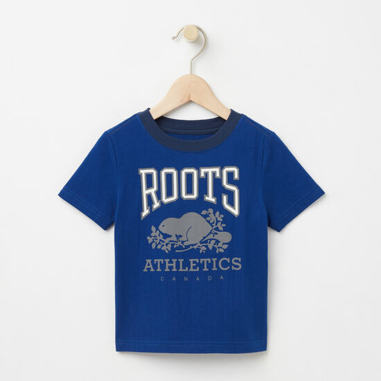 Roots-Kids T-shirts-Toddler RBA Glow In The Dark T-shirt-Anchor Lake Blue-A