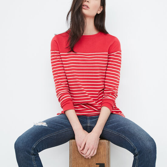 Roots-Women Tops-Lakeview Top-Geranium-A