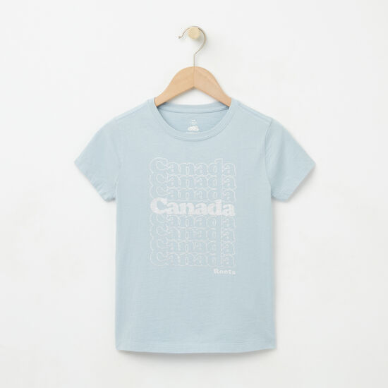 Girls Foil Canada Stack T-shirt