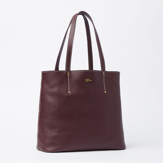 Roots-Women Totes-Downtown Tote Bolzano-Garnet-A