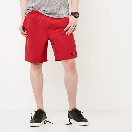 Roots-Men Shorts-Nylon Camp Shorts-Sage Red-A