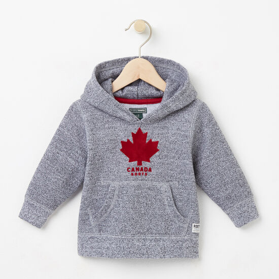 Roots-Kids Tops-Baby Canada Pepper Kanga Hoody-Salt & Pepper-A