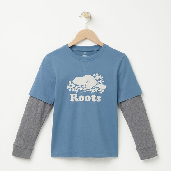 Roots-Kids Boys-Boys Callum Top-Copen Blue-A