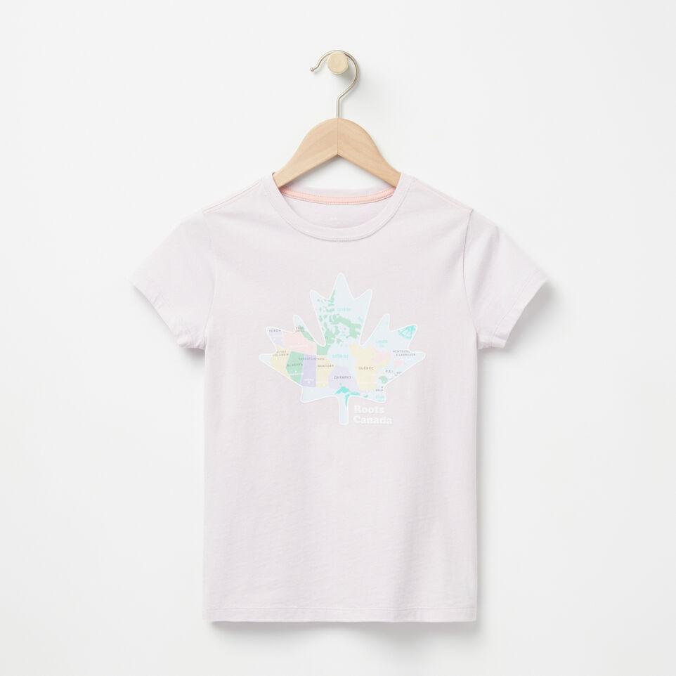 Roots-undefined-Filles T-shirt Côtier Feuille D'érable-undefined-A