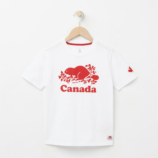 Roots-Kids New Arrivals-Boys Cooper Canada T-shirt-White-A