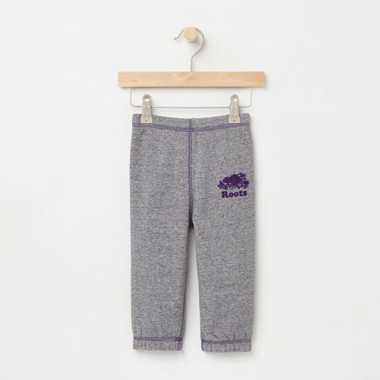 Roots-Kids Bottoms-Baby Original Sweatpant RTS-Granite Mix-A