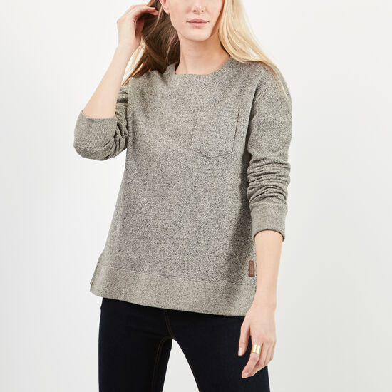 Roots-Women Sweatshirts & Hoodies-Jenna Crew-Speckle-A
