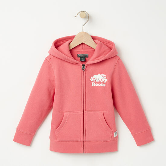 Roots-Kids Toddler Girls-Toddler Original Full Zip Hoody-Rapture Rose-A