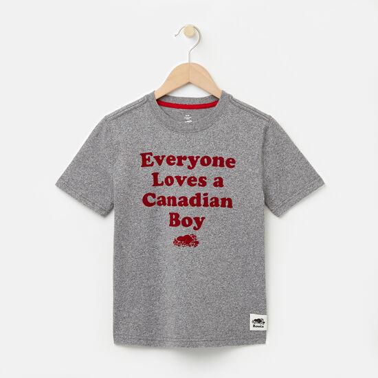 Roots-Enfants T-shirts-Garçons T-shirt Canadian Boy-Sel Et Poivre-A