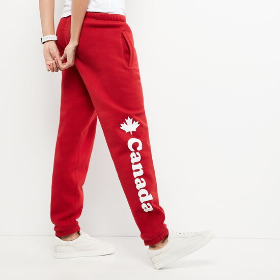 Roots-Women Bottoms-Womens Cooper Canada Sweatpant-Sage Red-A