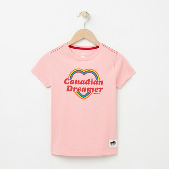 Roots-Kids New Arrivals-Girls Canadian Heart T-shirt-Peony Pink-A