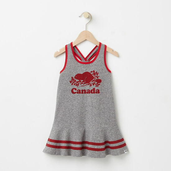 Roots-Kids Toddler Girls-Toddler Cooper Canada Tank Dress-Salt & Pepper-A