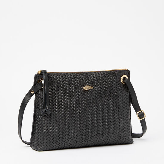 Roots-Leather Handbags-Edie Bag Box Woven-Black-A