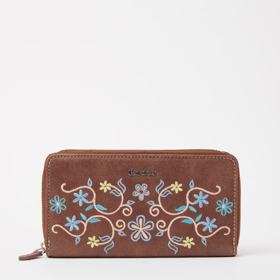 Roots - Open Flat Floral Wallet Tribe