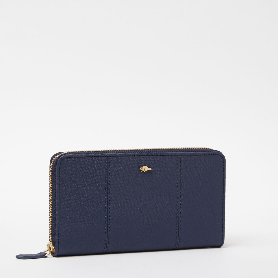 Roots-undefined-Open Flat Wallet Saffiano-undefined-D