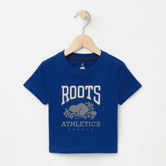 Roots-Kids T-shirts-Baby RBA Glow In The Dark T-shirt-Anchor Lake Blue-A