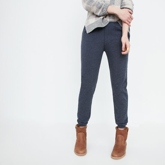 Roots-Women Bottoms-Cozy Fleece Pant-Blue Iris Mix-A