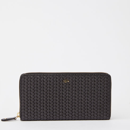 Zip Around Wallet Woven