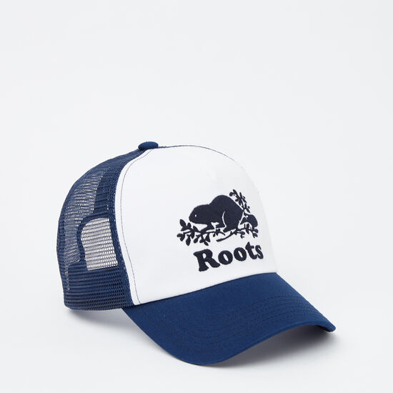 Roots-Kids Accessories-Kids Cooper Trucker Hat-Anchor Lake Blue-A