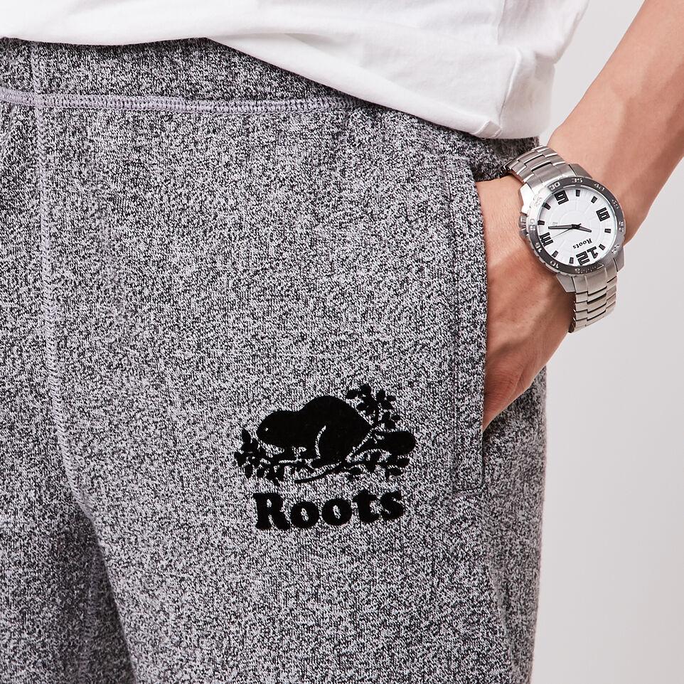 Roots-undefined-Pantalon en coton ouaté original sel et poivre Roots- Long-undefined-C
