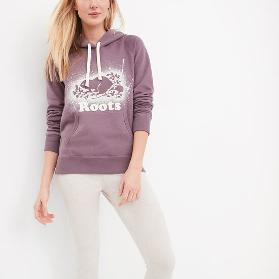 Roots-Sale Women's-Splatter Original Kanga Hoody-Arctic Dusk-A