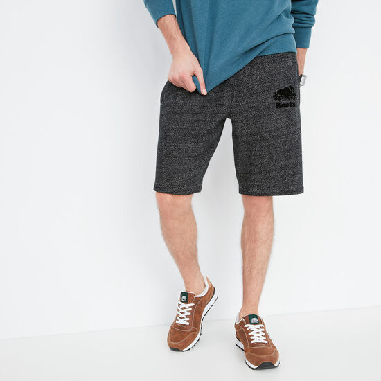 Roots-Men Shorts-Heritage Fleece Shorts-Black Pepper-A