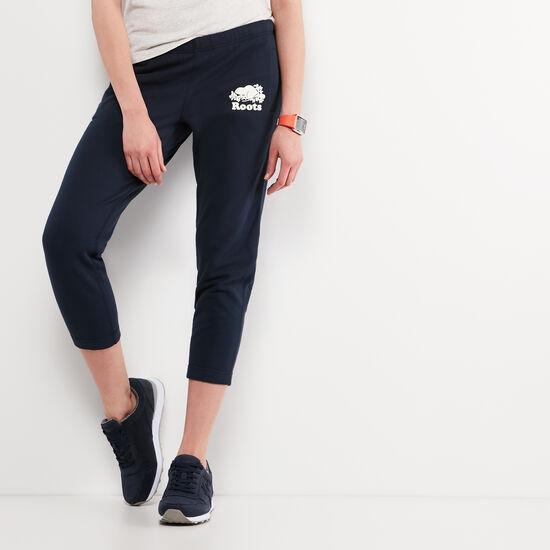 Roots-Femmes Pantalon Ajusté-Original Ankle Sweatpant-Bleu Cascade-A
