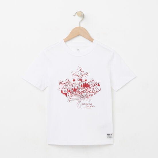 Roots-Kids New Arrivals-Boys Explore Canada T-shirt-White-A