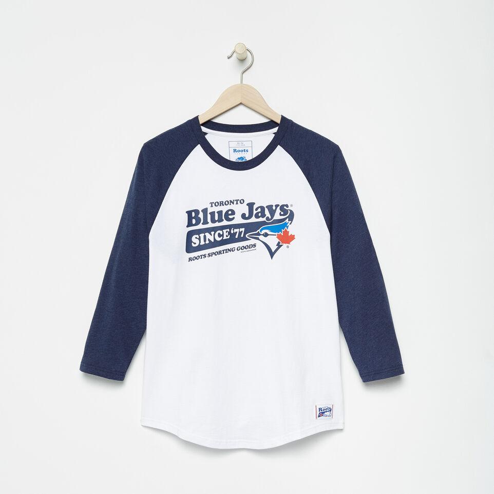 Roots-undefined-T-shirt de baseball Blue JaysMC Ballpark pour hommes-undefined-A