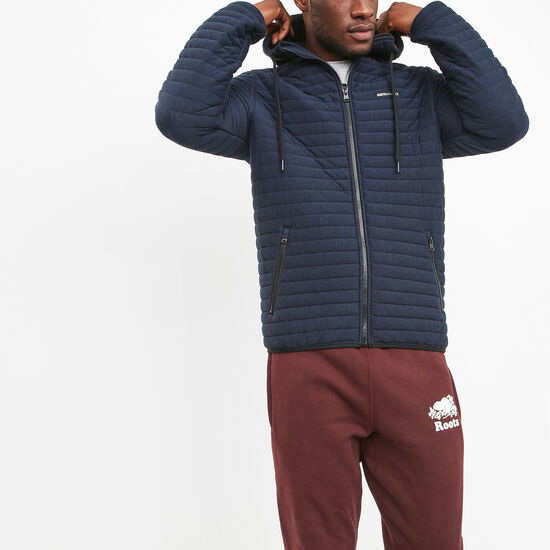 Roots-Men New Arrivals-Champlain Quilted Zip Hoody-Navy Blazer Pepper-A