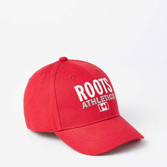Roots-Kids New Arrivals-Kids Roots Re-issue Baseball Cap-Scooter Red-A