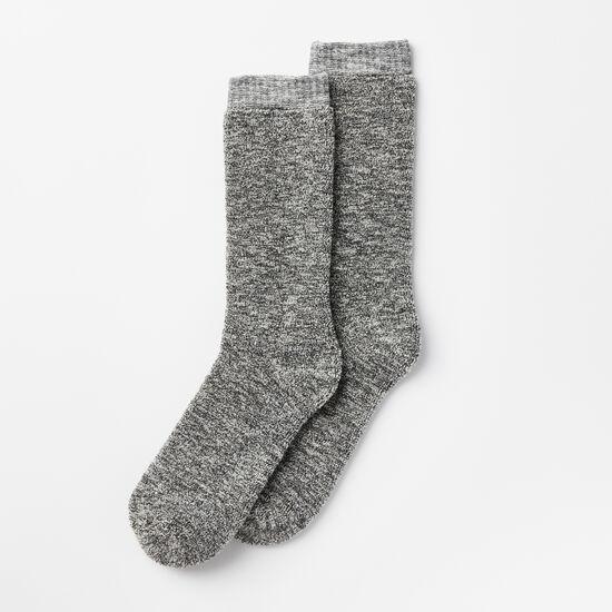 Roots-Men Socks-Mens Trail Crew Sock-Charcoal Mix-A