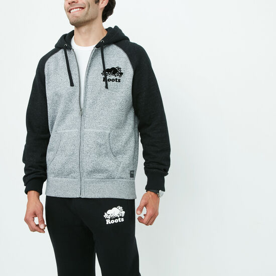 Roots - Contrast Pepper Full Zip Hoody