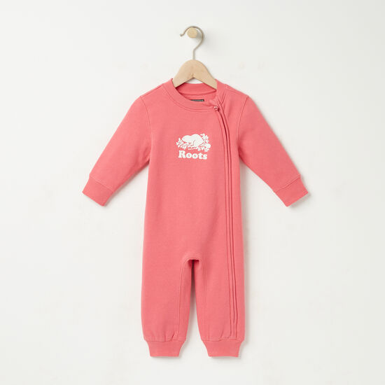 Roots-Kids Rompers & Onesies-Baby Original Cooper Beaver Romper-Rapture Rose-A