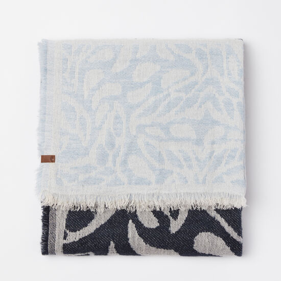 Roots-Women Scarves & Wraps-Fogo Island Scarf-Cascade Blue-A