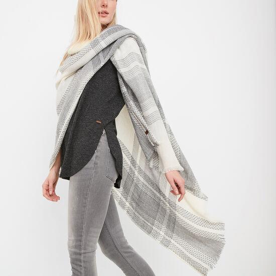 Roots-Women Accessories-Liz Blanket Wrap-Pristine White-A