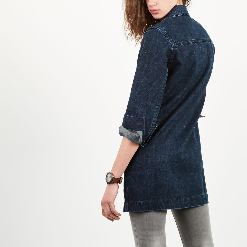 Roots-undefined-Manteau Drafting En Denim-undefined-E