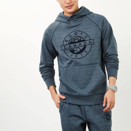 Roots-Men Sweatshirts & Hoodies-Tremblant Kanga Pullover-Blue Mix-A